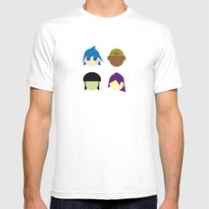 Famous Capsules - Gorillaz White Mens Fitted Tee LARGE