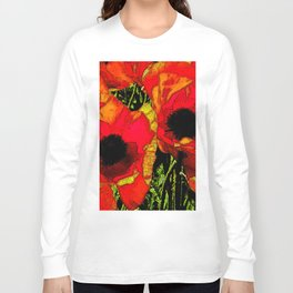 Tapestry of Poppies Long Sleeve T-shirt