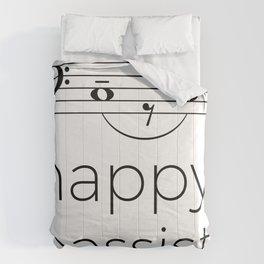 Happy bassist (light colors) Comforters