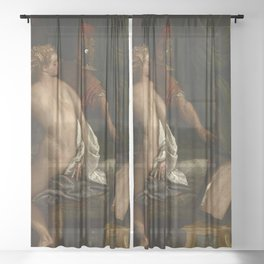"Veronese (Paolo Caliari) ""Venus, Mars and Cupid with a Mirror"" Sheer Curtain"