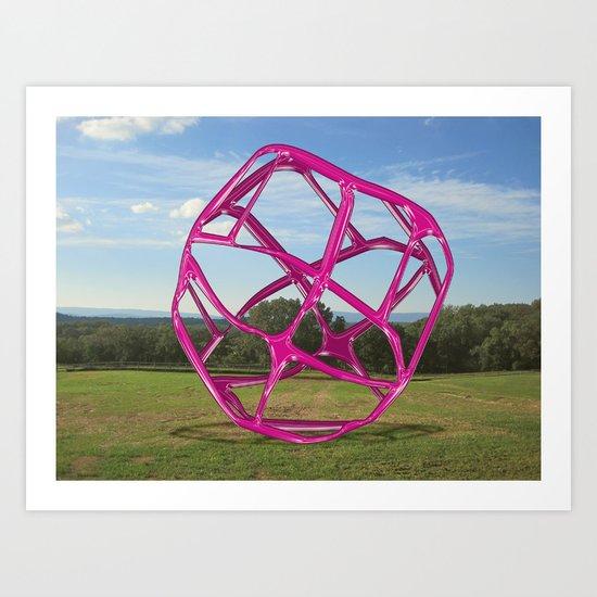 Purple Sphere - Sculpture Implants Series Art Print