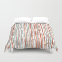 tape Duvet Covers featuring tape by  Ray Athi