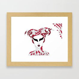 Aries / 12 Signs of the Zodiac Framed Art Print