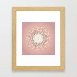 Rose Mandala Framed Art Print