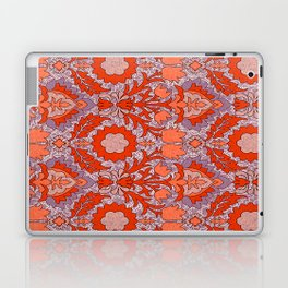 Trendy Shabby Chic Purple Coral Floral Damask Pattern Laptop & iPad Skin