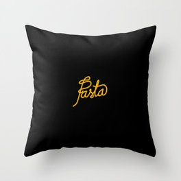Pasta   [black & yellow] Throw Pillow
