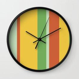 Vintage Bold Summer ColorsStripes Wall Clock