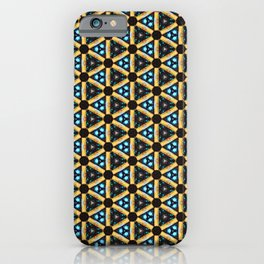 Glowy triangle saturated pattern iPhone Case