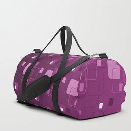 Space Age Retro Square Pattern Design Duffle Bag