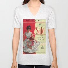 1963 - 98th Anniversary Sale -  Summer Catalog Cover Unisex V-Neck
