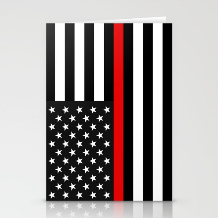 Red Line American Flag >> Thin Red Line American Flag Stationery Cards By Jerrylambert