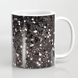 Blush Gray Black Lady Glitter #2 #shiny #decor #art #society6 Coffee Mug