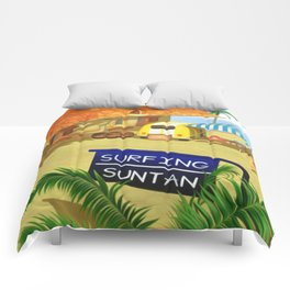 Costa Del Sol Surfing Suntan Comforters