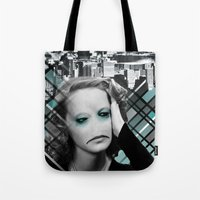 sad Tote Bags featuring sad by Rosa Picnic