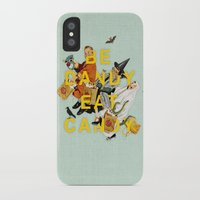 eat iPhone & iPod Cases featuring Be Dandy Eat Candy by Heather Landis