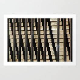 Metal Against Wood, City Texture, Royal Canal, Dublin, Ireland Art Print