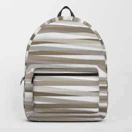 Stripes neutral graige beige gray  Backpack