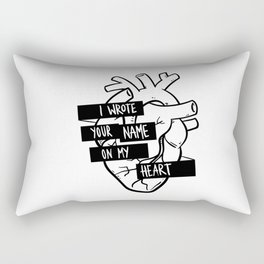 I Wrote Your Name On My Heart Rectangular Pillow