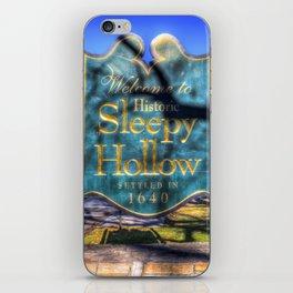 Sleepy Hollow Village Sign iPhone Skin
