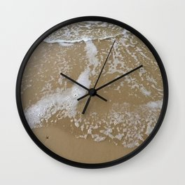 How to hold a wave upon the sand Wall Clock