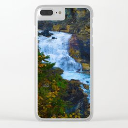 White Falls along the Berg Lake Trail in BC Clear iPhone Case
