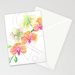 Phalaenopsis Orchid Watercolor Stationery Cards