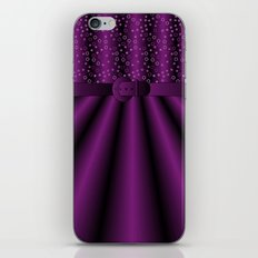 Purple Satin Gown iPhone & iPod Skin