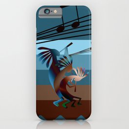 Southwest Kokopelli Music iPhone Case