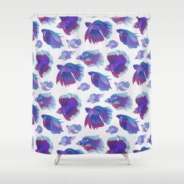 Blue Betta Shower Curtain