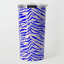 Tiger Print - Cobalt Blue Travel Mug