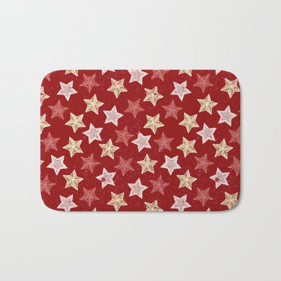 Festive Stars Bath Mat