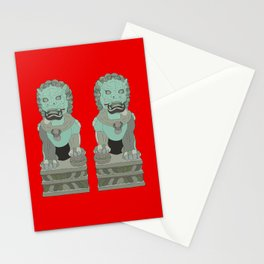 Lion Statues Stationery Cards