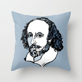 William Shakespeare The Bard by Arty Mar Throw Pillow