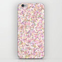 Happy Pastel Square Pattern iPhone Skin