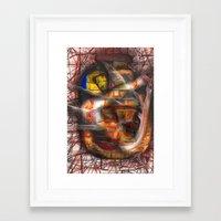 lantern Framed Art Prints featuring Lantern by John Hansen