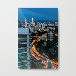 KL City Metal Print