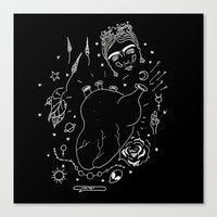 cactei Canvas Prints featuring Cactei (Inverted) by ☿ cactei ☿