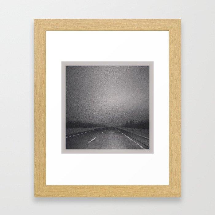 Winter Roads in the Prairies  Framed Art Print