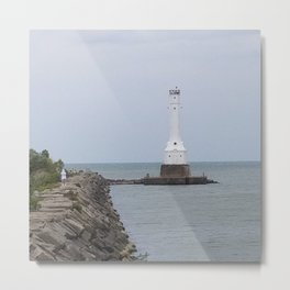 Huron Harbor Lighthouse Metal Print