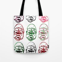 picasso Tote Bags featuring Picasso  by Dr. Idol. Clothing