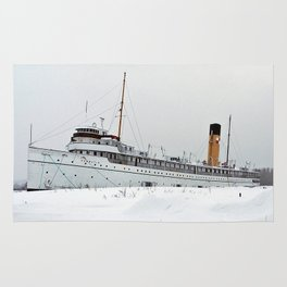 SS Keewatin in Winter White Rug
