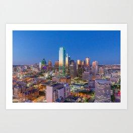 Downtown Dallas Cityscape Art Print