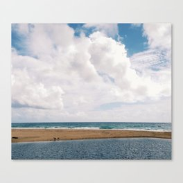streaming to sea Canvas Print