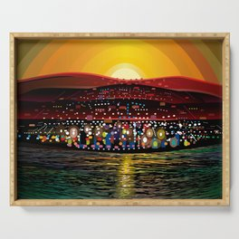 Angel Island Sunset (Square) Serving Tray