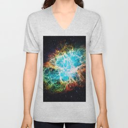 Crab Nebula Unisex V-Neck