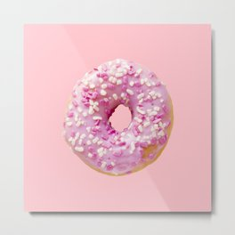 Millennial Pink Donut Metal Print