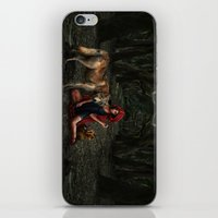 red riding hood iPhone & iPod Skins featuring Red Riding Hood by Viggart