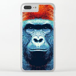 Gorilla -  Colorful Animals Clear iPhone Case