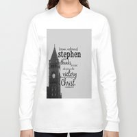 stephen king Long Sleeve T-shirts featuring Stephen victorious by KimberosePhotography