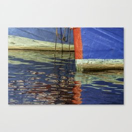 Colorful abstract boat reflection on water Canvas Print